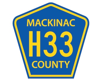 H33 Highway Sign Decal - Mackinac County