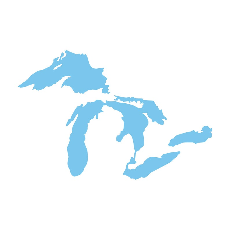 Great Lakes Vinyl Decal  Car Window Wall image 0