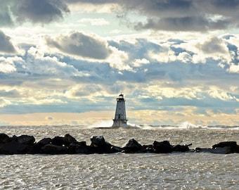 Light Textures - Ludington Lighthouse - Michigan Photography - Stock Photography