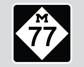 M-77 Vinyl Decal - Upper Peninsula