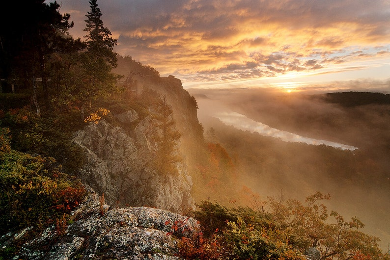 Lake of the Clouds  Michigan Photography  Stock Photography image 0