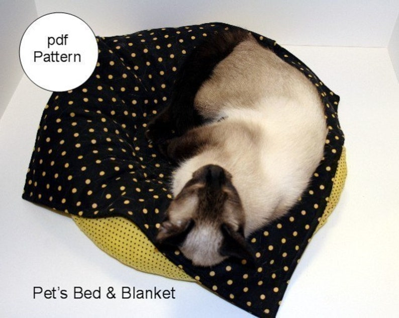 Pet's Bed and Blanket pdf Sewing Pattern image 0