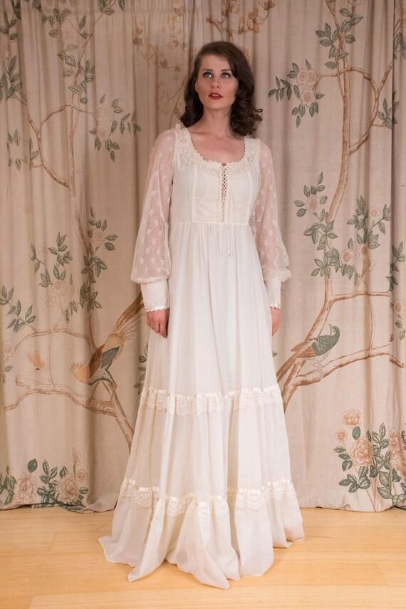 RESERVED Gunne Sax Dress - 1970s Vintage Gunne Sa… - image 2