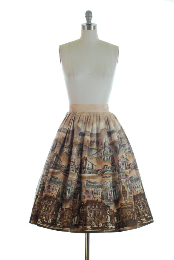 Vintage 1950s Skirt - Rare 50s Incredibly Detailed