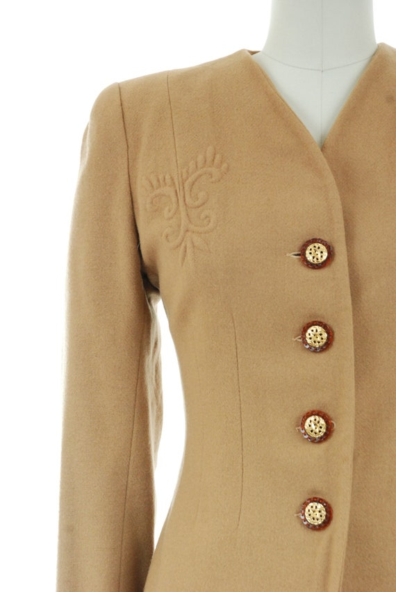 1940s Vintage Suit - Rich Caramel Brown 40s Soft … - image 4