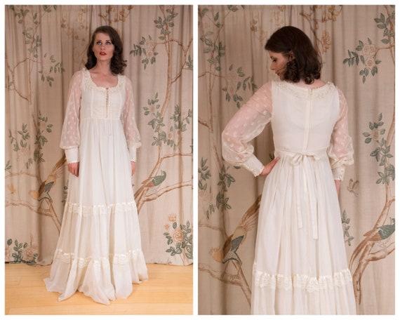 RESERVED Gunne Sax Dress - 1970s Vintage Gunne Sa… - image 1