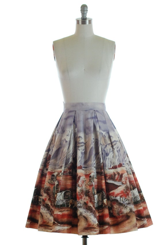 Vintage 1950s Skirt - Gorgeous Rare 50s Millworth