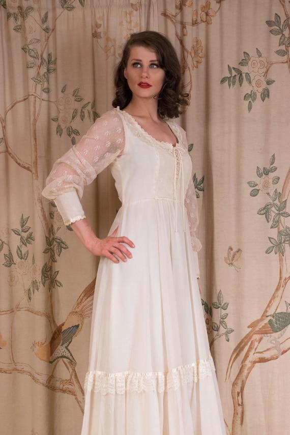 RESERVED Gunne Sax Dress - 1970s Vintage Gunne Sa… - image 6