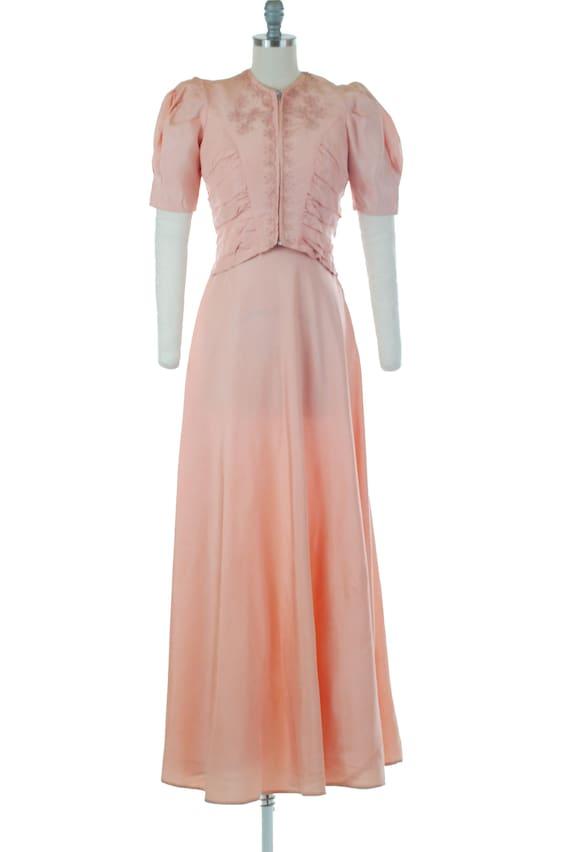 Vintage 1930s Dress - Sweet 30s Pink Dress and Jac
