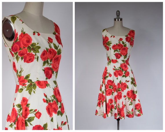 1960s Dress - Charming 60s Cotton Pique Day Dress
