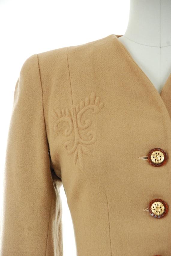 1940s Vintage Suit - Rich Caramel Brown 40s Soft … - image 5