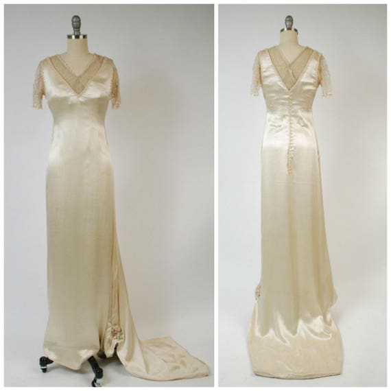 Edwardian Wedding Gowns: Vintage Edwardian Wedding Dress C. 1908 Robe-Sylphide