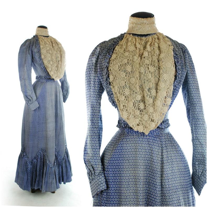 Antique Edwardian Gown  Exquisite Edwardian Dress c. 1901 in image 0