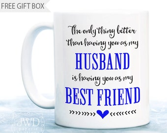 Wife To Husband Gift For Anniversary Him Best Ever Birthday Coffee Mug CM507