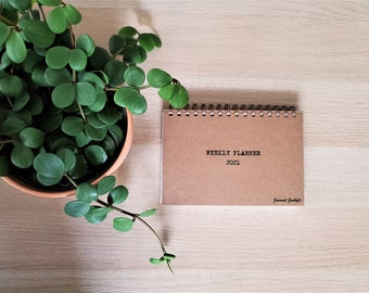 Undated 2021 Personalized Weekly Planner-Organizer // A great wedding or graduation present