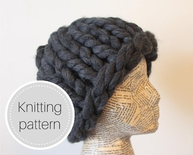 Crazy huge knit hat pattern  chunky knit hat pattern  giant image 0