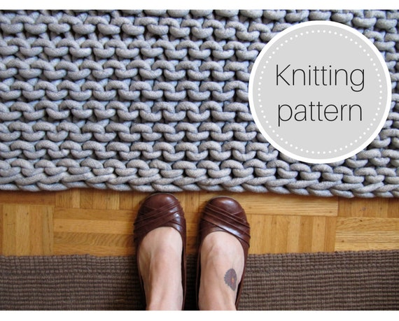 Knit rope rug pattern  instant download  cotton rope rug