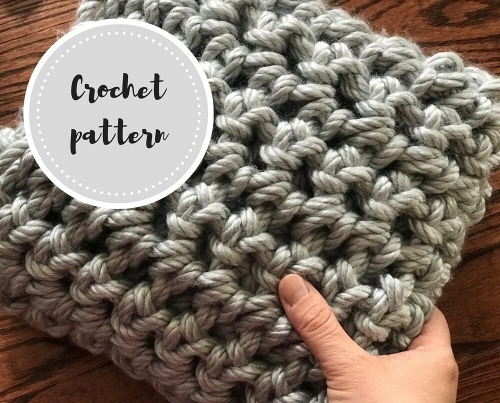Finger Crochet Blanket Pdf Pattern Etsy