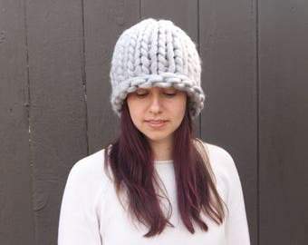 Giant knit hat