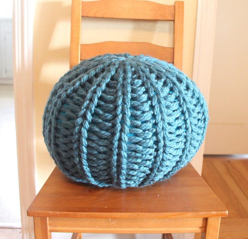 Chunky knit pouf PDF pattern with stuffing instructions   Etsy