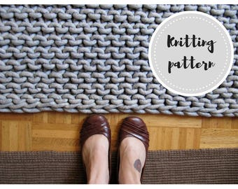 Rope rug PDF pattern - knitting and dye instructions for cotton rope