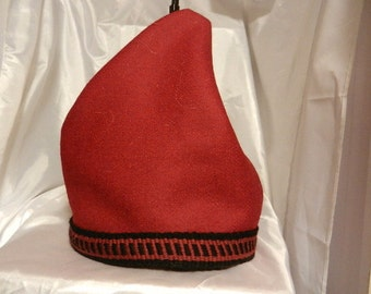 Phrygian hat, custom order hat your choice of hand made trim and leather colour