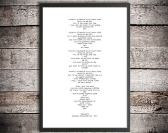 Charles Bukowski Printable Poetry 'Bluebird' Instant Download Literature Poster Inspirational Poem Digital Poster Romantic Gift Love Poem