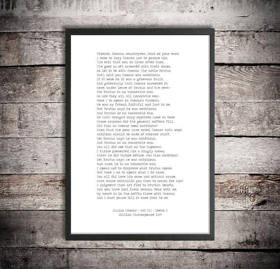 speech on william shakespeare