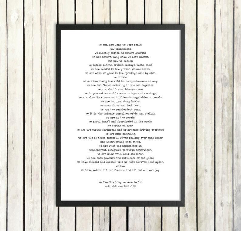 graphic about Printable Poem identify Walt Whitman Printable Poem We 2 Fast Obtain Character Poetry Poster Leaves Of Gr Atmosphere Print Naturalist Poem Get pleasure from Poetry