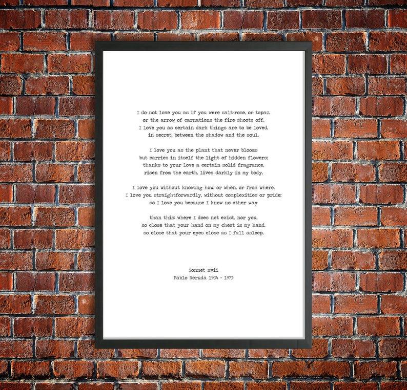 pablo neruda romantic poems