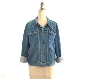 wrangler jean jacket | vintage jean jacket | 70s wrangler jean jacket