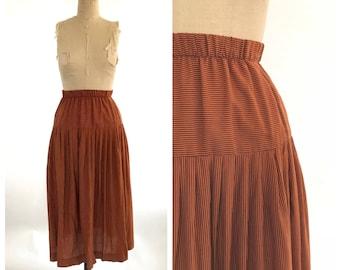 90s striped skirt   burnt orange striped skirt   vintage skirt