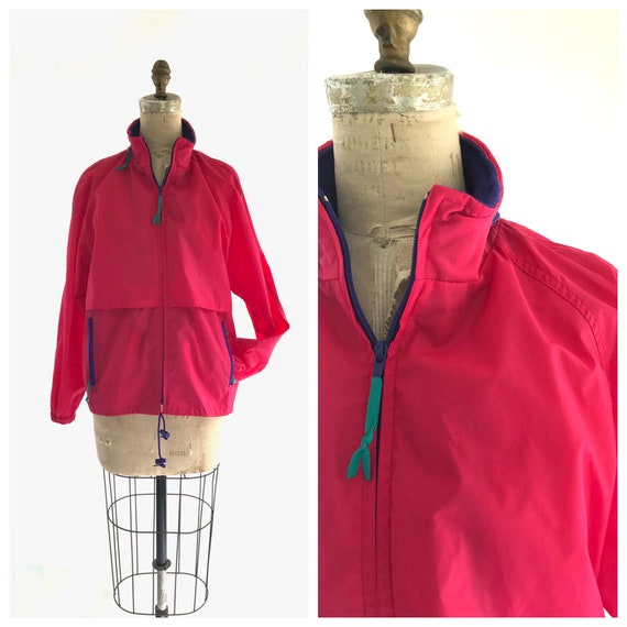 hot pink Woolrich windbreaker
