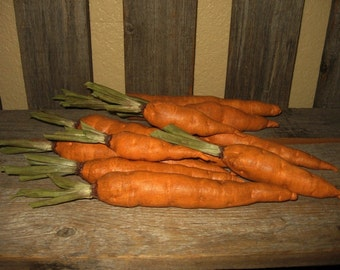 Primitive Folk Art Spring Garden Carrots e-Pattern