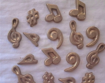 Music Notes and Symbols Cupcake Toppers