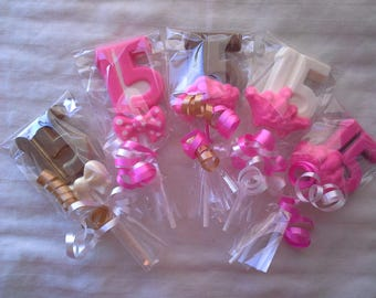 Chocolate Number 15 or 16 Lollipops Quinceanera, 15th or 16th Birthday