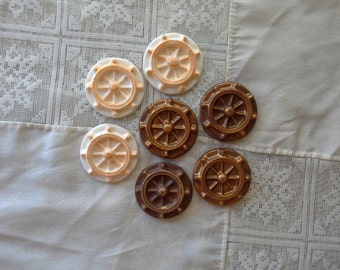 Chocolate Ship's Wheel Cupcake Toppers boat steering wheel