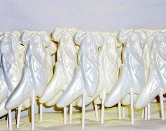 10 Chocolate Ballet Shoe Lollipops recitals
