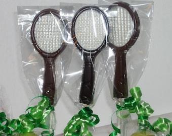 Chocolate Tennis Racket lollipops