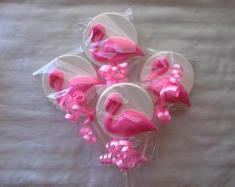 Chocolate Flamingo Lollipops