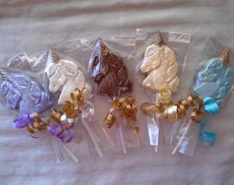 Chocolate Unicorn Lollipops