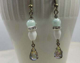 Bohemian vintage crystal earrings