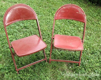 Enjoyable Items Similar To Vintage Childs Metal Folding Chair A Caraccident5 Cool Chair Designs And Ideas Caraccident5Info