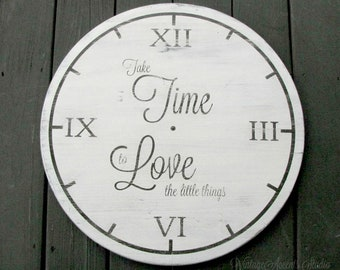 """Ex-Large Handmade Clock Face Sign 