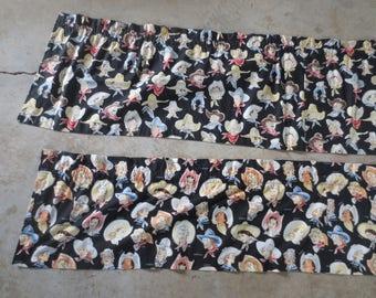 "Alexander Henry's Buckarettes or Buckaroo Fabric / Currently made intio Valences / 3 yards each / 15"" or 18"" wide"