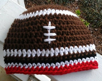 a770fc53130 Newborn to Adult size Atlanta Falcons Football Beanie Hat. Falcons Hat