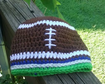 Newborn to Adult size Seattle Seahawks Football Beanie Hat. Falcons Hat 700fac70f
