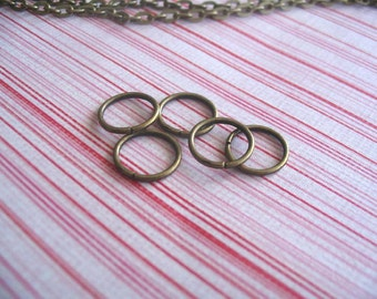 50pcs 10mm Antique Brass Split Jump Rings