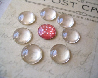 50...12mm Glass Tile Cabochons. Great for  Rings, Magnets and pendant settings.