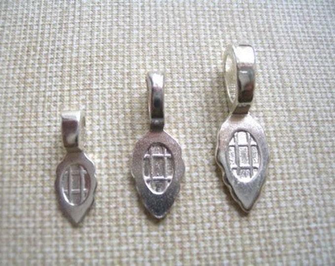 10 MEDIUM Sterling Silver Plated Aanraku Bails
